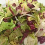 Winter Chicories with Persimmons and Candied Pecans
